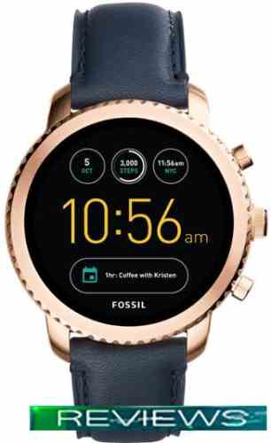 Fossil Q Explorist Brown Leather (золотистый/синий)