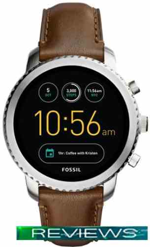 Fossil Q Explorist Brown Leather (серебристый)