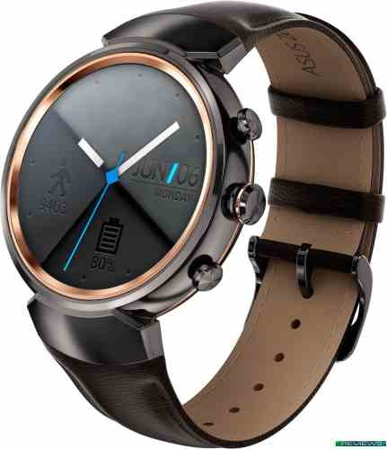 ASUS ZenWatch 3 Gunmetal case/Brown leather band WI503Q