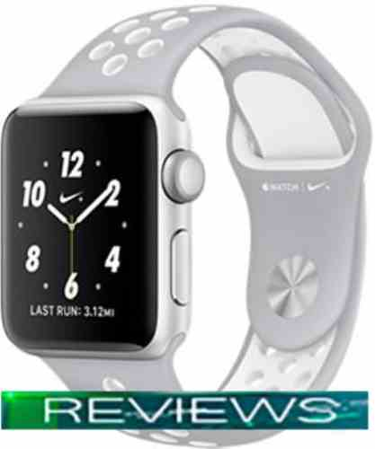 Apple Watch Nike 38mm Silver with Flat Silver/White Nike Band MNNQ2