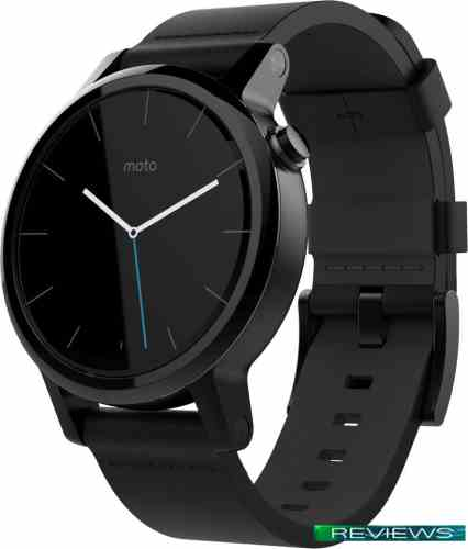 Motorola Moto 360 2nd Gen. Mens 42mm Black with Black Leather Band