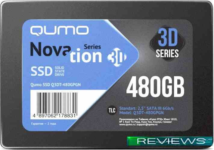 QUMO Novation 3D TLC 480GB Q3DT-480GPGN