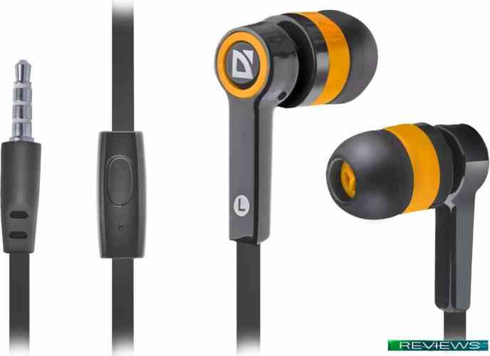 Наушники Defender Pulse 420 (черный/оранжевый) 63420