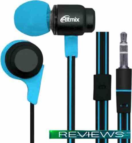 Наушники Ritmix RH-185 (черный/голубой)